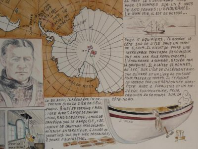 Pèlerinage sur la tombe de Shackleton